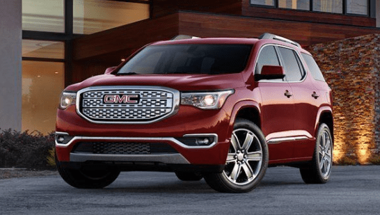 gmc denali acadia towing capacity engine 2021