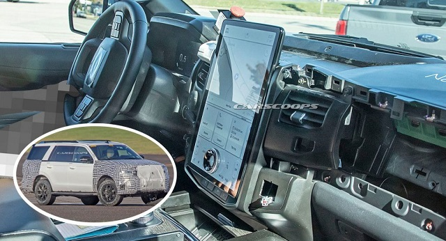 2022 Ford Expedition MAX Interior spy shot