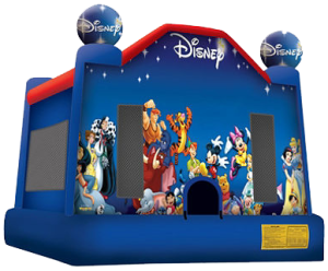 8World of Disney bounce house