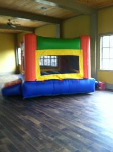 Fun Indoor Orange bounce house moonwalk