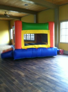 Fun Indoor Orange bounce house moonwalk