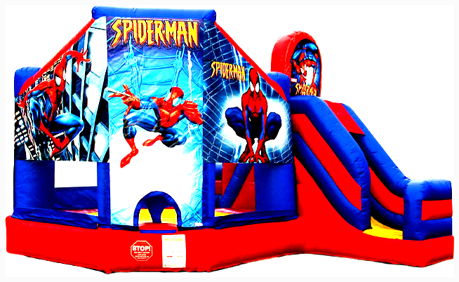 5Superhero Bounce House combo