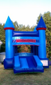 16Blue Sky bounce house combo front