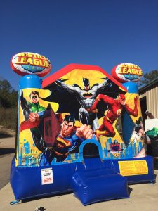 5Justice League bounce house moonwalk