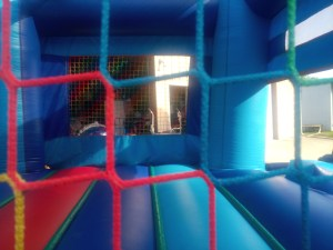 3Blue Sky moonwalk bounce house combo net
