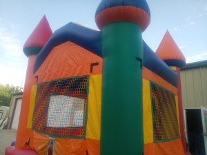 2Silly Willy bounce house moonwalk