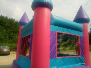7Pink Castle bounce house combo