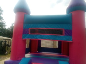 5Pink Castle bounce house combo