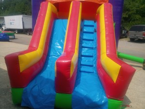 4Over the Rainbow bounce house combo