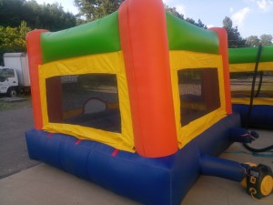 2Fun Indoor Out Orange Bounce House moonwalk