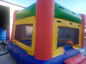 3Fun Indoor Out Red Bounce House moonwalk