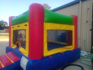 1Fun Indoor Out Red Bounce House moonwalk