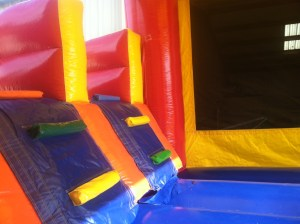 1Super Double Jumpy Jump bounce house combo