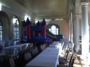 9Pink Castle bounce house combo