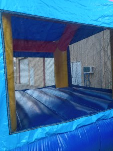 racing fun bounce house inside