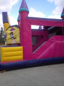 Mega Princess bounce house combo side