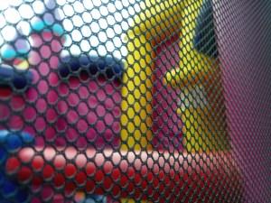 Mega Princess bounce house combo goal