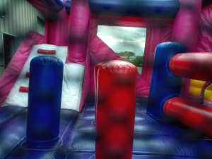 Mega Princess bounce house combo poles