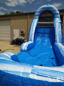 Blue Lagoon Wet Dry slide front