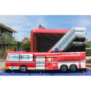 Fire Station Bounce House combo Side