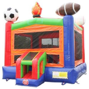 Lets Play Ball Bounce House Side front