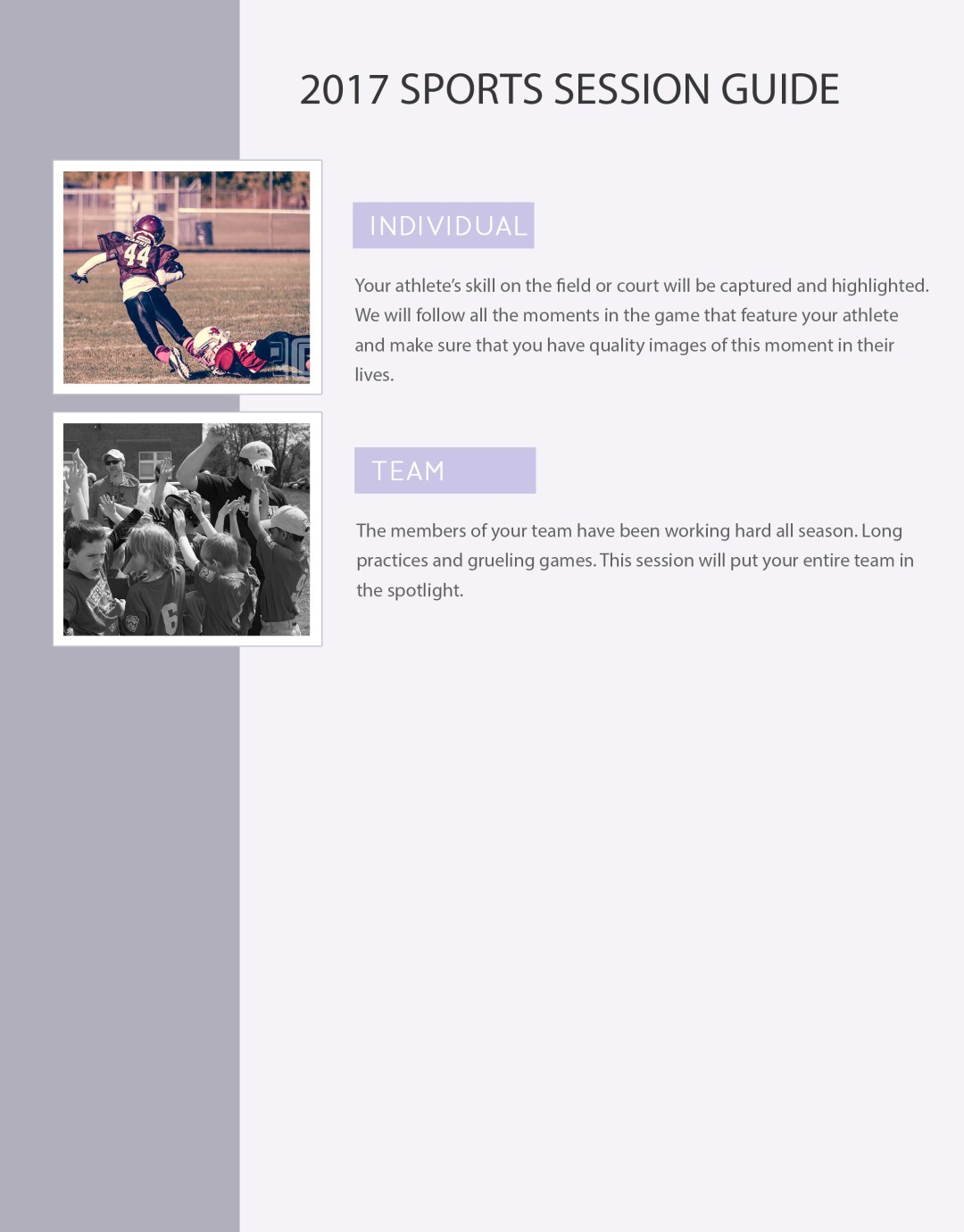 Sports Session Info