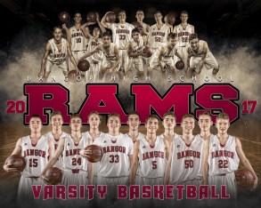 Bangor Rams Varsity Basketball 2017