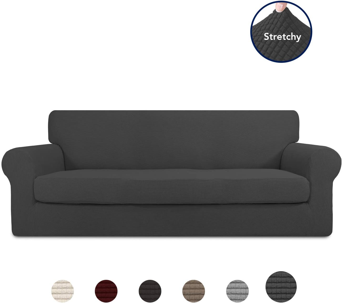 purefit stretch couch slipcover 2 piece