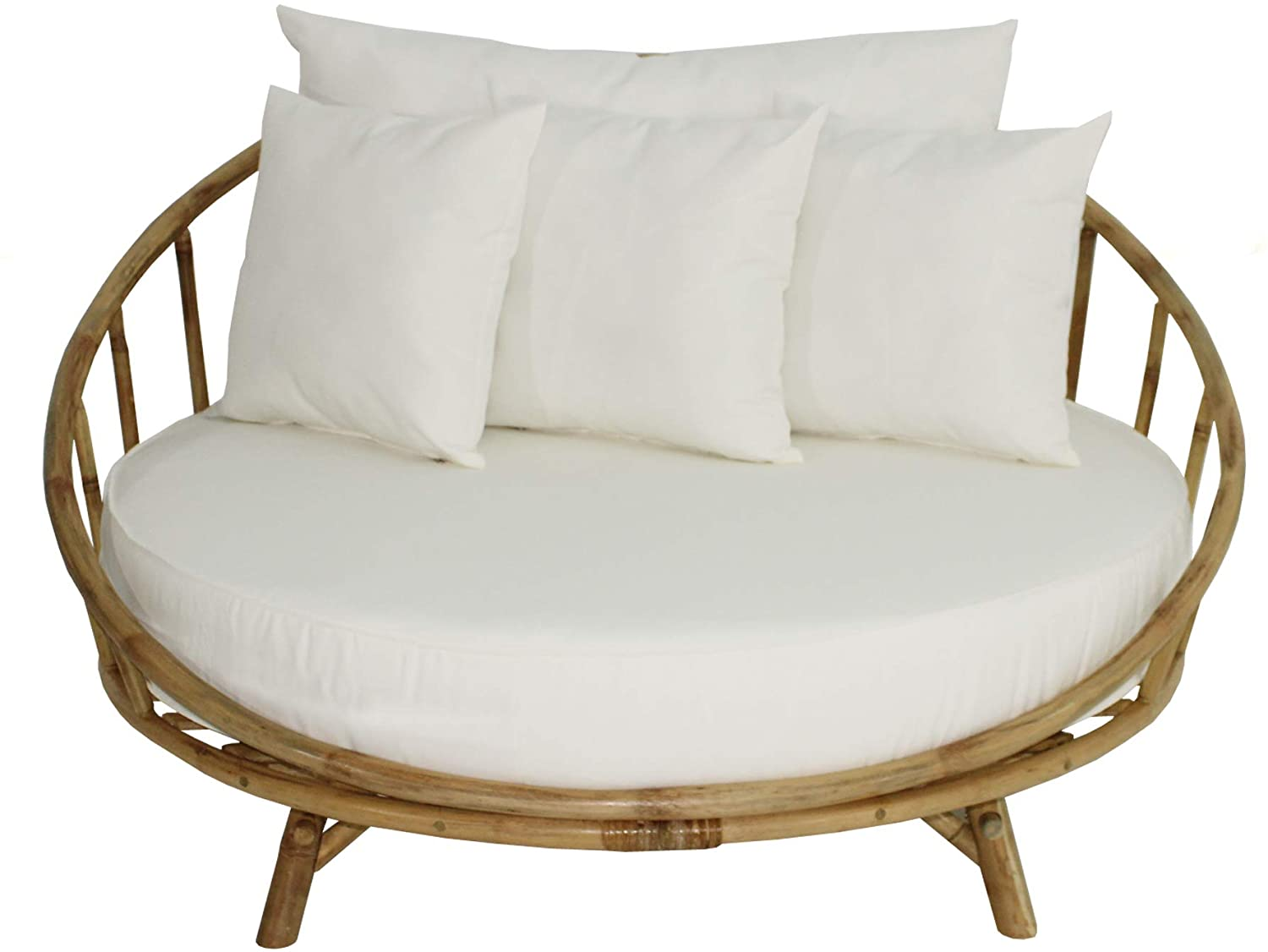 zew bamboo round patio daybed