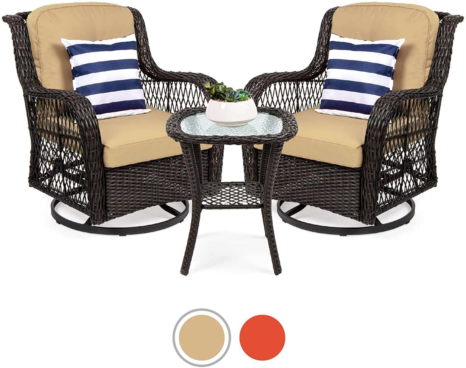 best choice products outdoor wicker