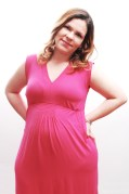 Vestido de malha curto pink Zazou