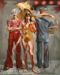 """""""Trio"""" oil on canvas by Adam Grant, 1979"""""""