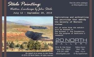 """""""Steele Painting"""" postcard"""