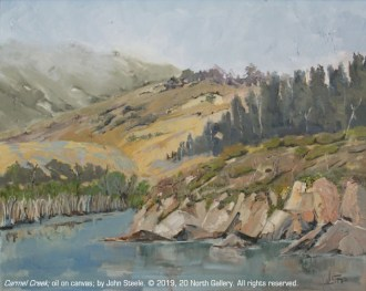 """Carmel Creek"" oil on canvas by John Steel"