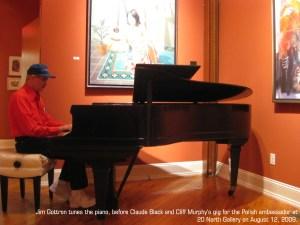 Jim Gottron tunes the piano, 2009