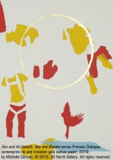 """""""Sun and Air"""" (detail), mixed media on paper by Michelle Carlson"""