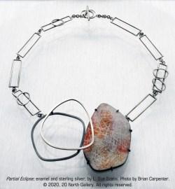 """""""Partial Eclipse #1"""" necklace by L. Sue Szabo"""