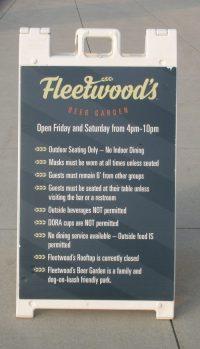 Fleetwood's Beer Garden rules & safety protocols