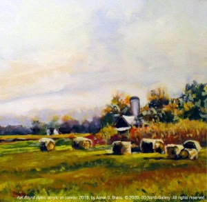 """""""Fall Round Bales"""" by Aaron S. Bivins"""