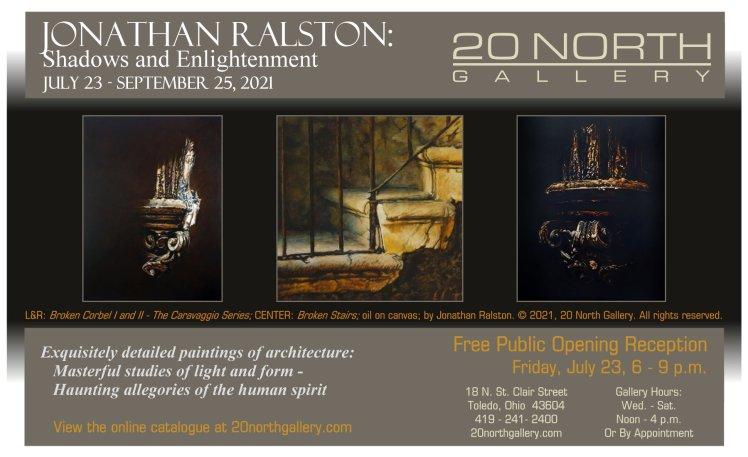 """Jonathan Ralston: Shadows and Enlightenment"" exhibition postcard"