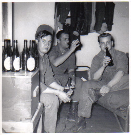 """Gannon"", ""Wegner"" and ""Dad"" in May of 1952, keeping the free world safe from German beer"