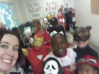 Second grade Halloween selfie!