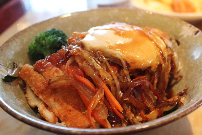 A photo of Chicken Katsu Donburi at Sake Sushi