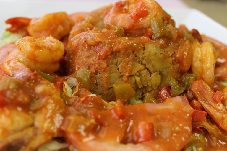 A photo of Mofongo with Shrimp from Sabores