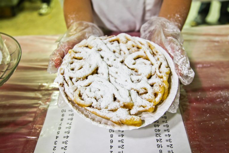 A photo of a funnel cake from the Red River Revel