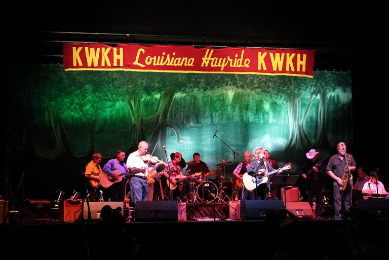 A photo of a Louisiana Hayride Band performance in 2012