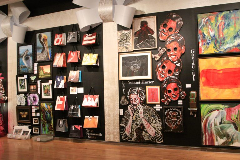 "A photo of the ""Presents"" exhibit at Artspace"