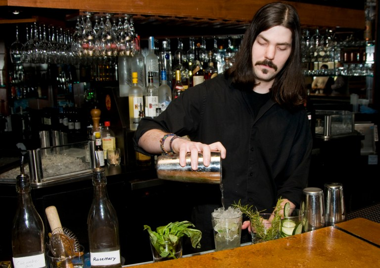A photo of bartender Aulden Morgan