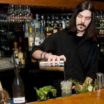 A photo of bartender Aulden Morgan