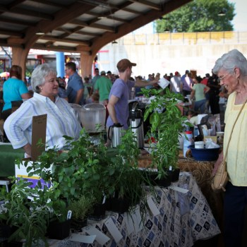 A photo of shoppers at the Shreveport Farmers' Market